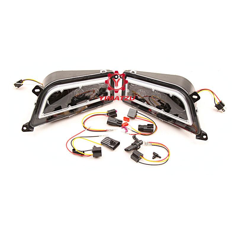 YIMATZU ATVs UTVs LED Headlights for Polaris Ranger RZR 900 1000 2015-2019