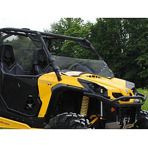 Super ATV Clear Scratch Resistant Half Windshield Can-Am Commander 1000 11-17