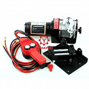 YIMATZU ATVs UTVs 3000LB Electric Winch for ATVs UTVs Quad Bike