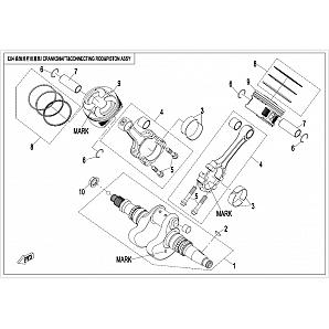 ENGINE 2016 2V91W(Z8) - E04 CRANKSHAFT CONNECTING ROD