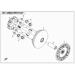 ENGINE 2016 2V91W(Z8) - E05-1 DRIVE PULLEY
