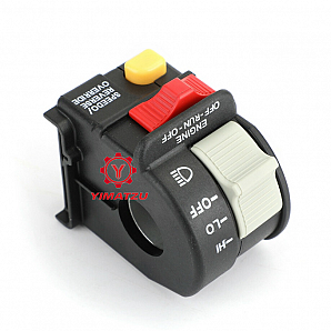 Fit for Polaris 4010591 Handlebar Headlight Hi/Lo Beam Light/Kill/Stop Switch US