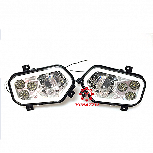DOT Aluminum LED Headlight Indicator Head Lamp Assembly For Polaris RZR 4 XP 900