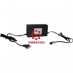 Yimatzu Electric Scooter Charger - 24V, 5A, 3-Pin Inline Plug (Female DIN)